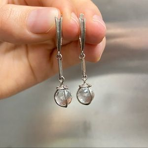 Stunning vintage sterling silver earrings.